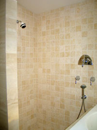 image of bathroom shower wall