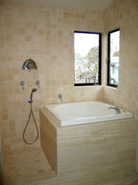 image of bathroom tub and wall
