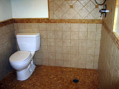image of bathroom and shower mosaic floor