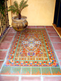 image of deco tile pattern entryway